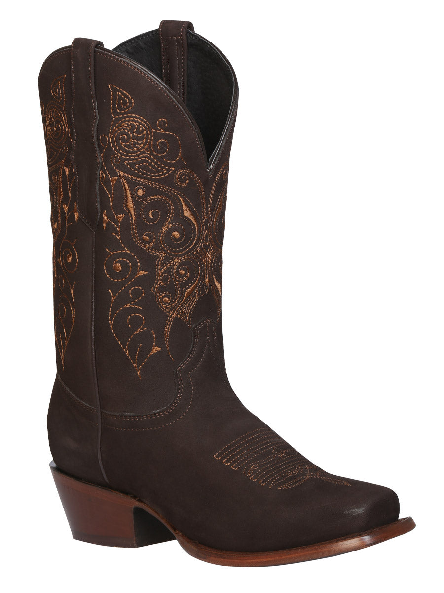 Bota Rodeo Dama Nobuck Cafe 122489