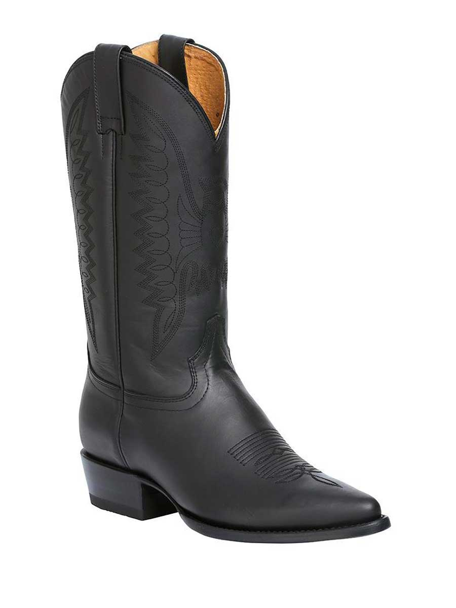 135 Men's Cowboy Leather Boot's / Graso Negro