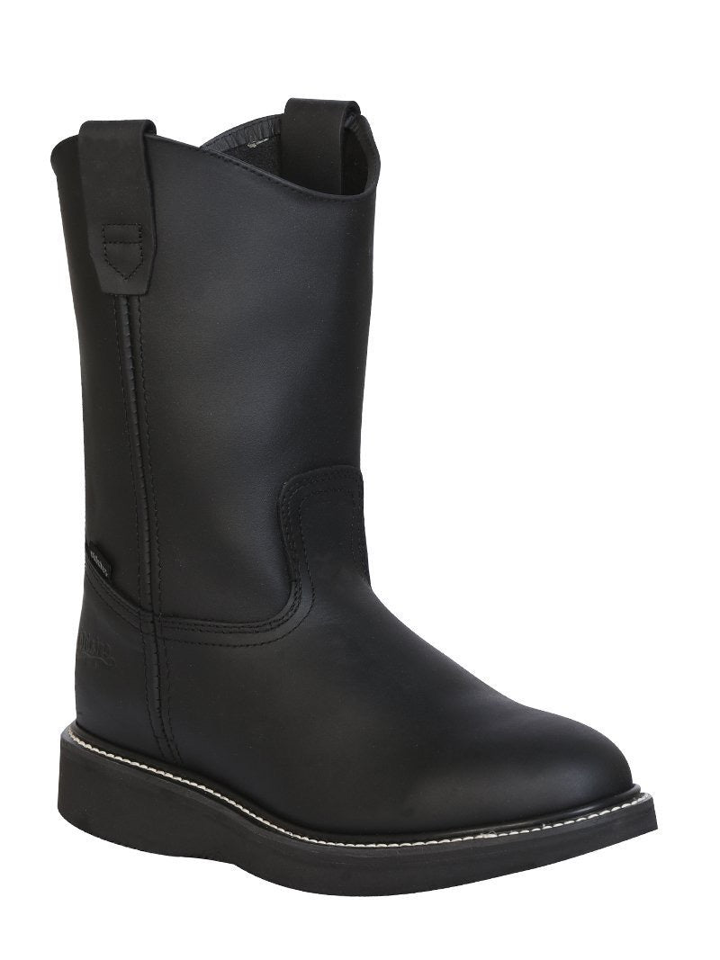 "Men's Work Boot Establo Leather Black /  ""Bota Establo Para Trabajo"""