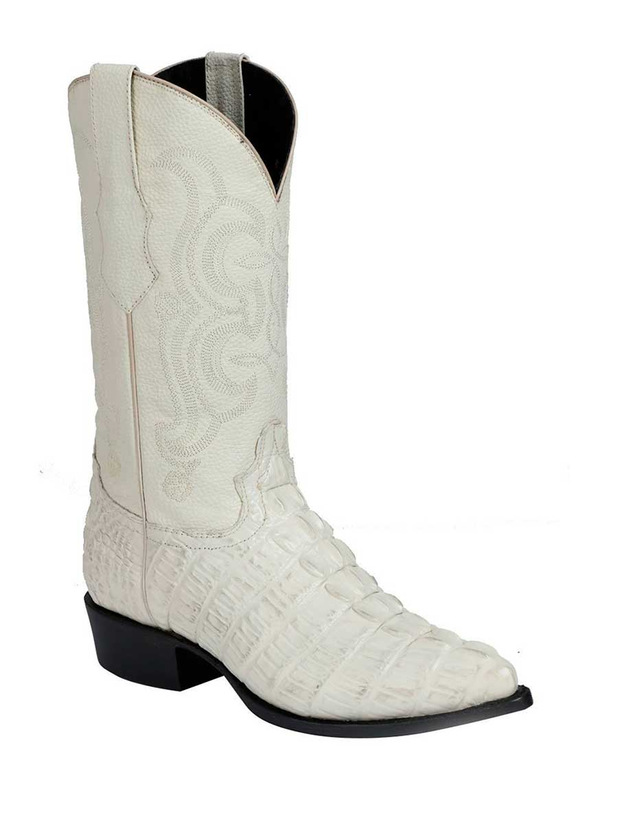 40845 Men's Cowboy Imitation Boot El Senor De Los Cielos Caiman Tail Bone