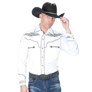 040984 Men's Charro Shirt El General White