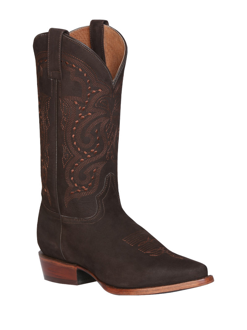 42989 Men's Cowboy Leather Boot's General Nobuck Cafe
