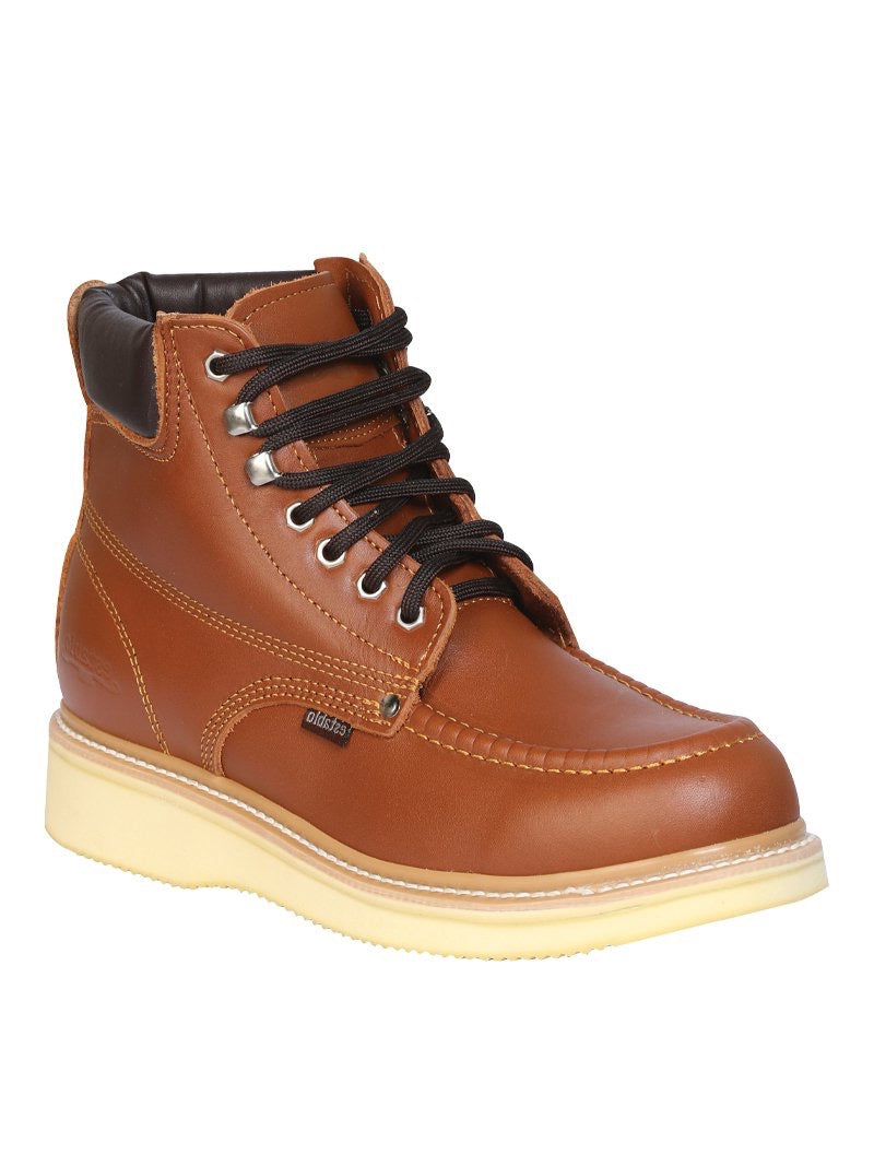 "Men's Work Ankle Boot Establo Leather Honey /  ""Zapato Establo Para Trabajo"""