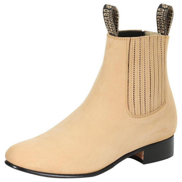 Honey rounded toe men ankle boots