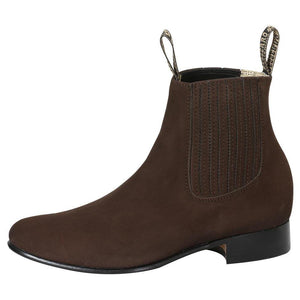 Tabacco rounded toe men ankle boots