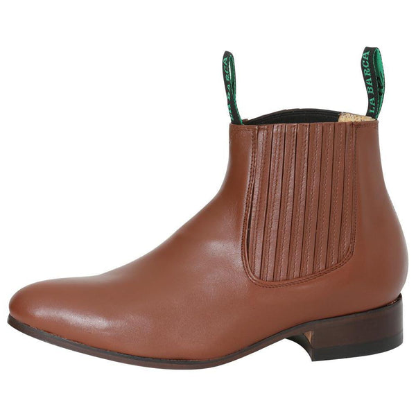 Caoba rounded toe men ankle boots