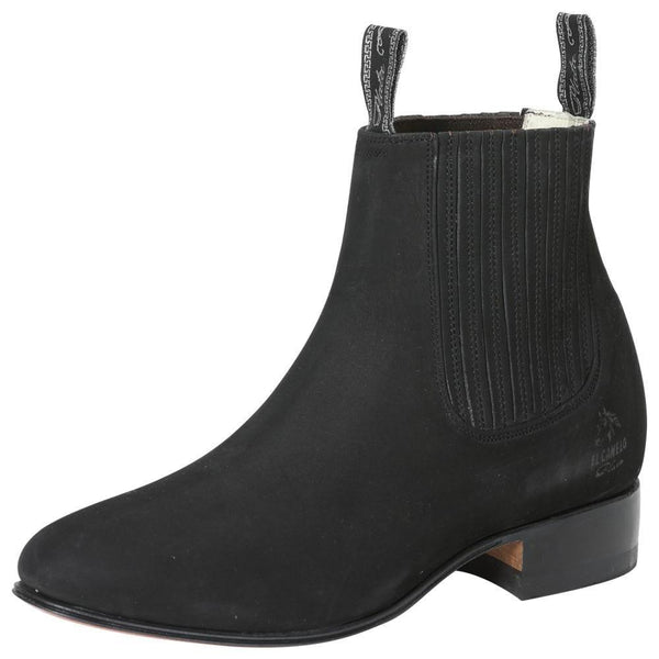 3663 Men's Charro Ankle Boot El Canelo Nobuck Black
