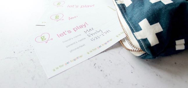 g is for Get Together: Free Play Date Cards Printable!