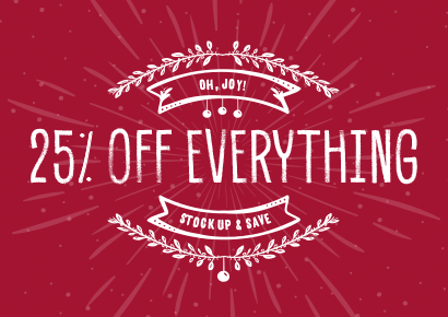 25% off Everything