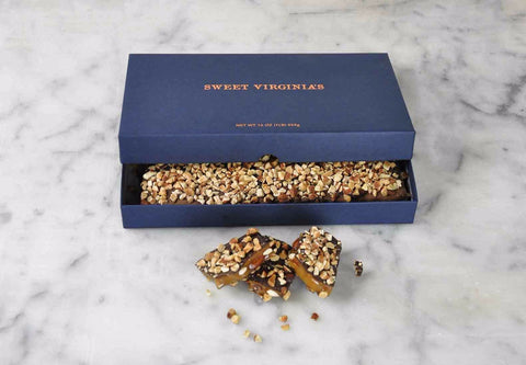 1 Pound (16oz) Large Boxed Almond Toffee Bar - Navy