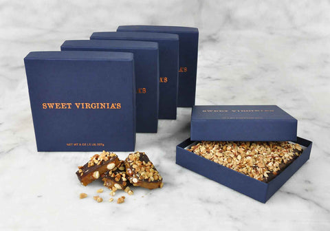 1/2 Pound (8oz) Medium Boxed Almond Toffee Bar | 5 Pack - Navy (FREE SHIPPING)
