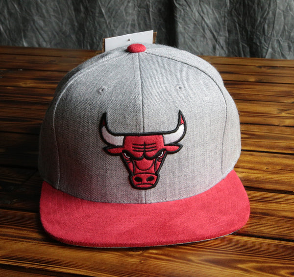 Chicago Bulls Mitchell & Ness Heather Micro Snapback Hat