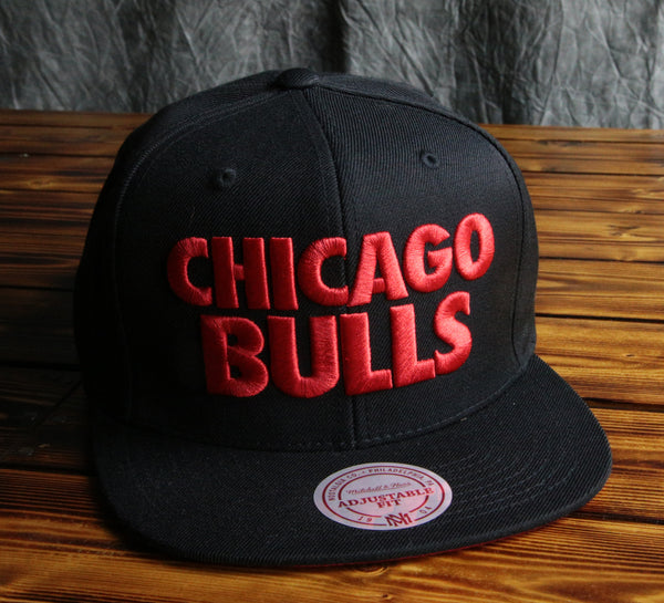 Chicago Bulls Mitchell & Ness Title Snapback Hat