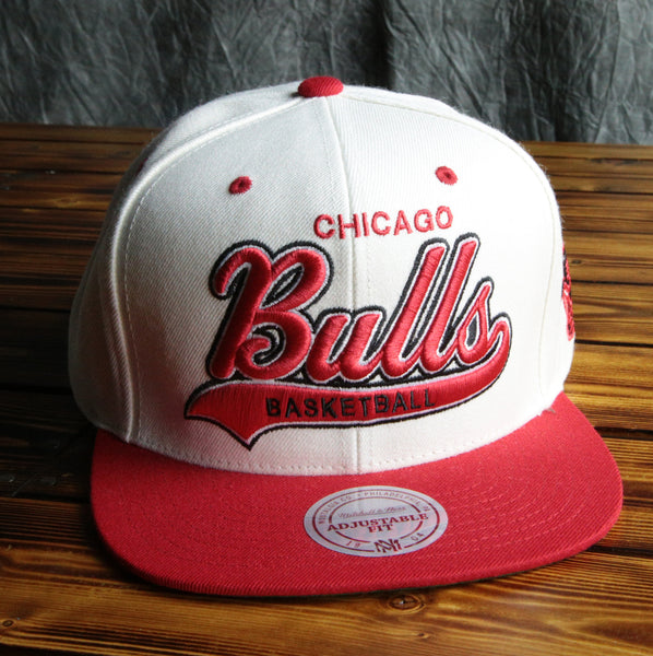 Chicago Bulls Mitchell & Ness Cream Tailsweep Snapback Hat