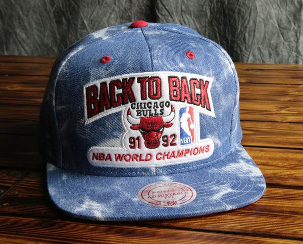 Chicago Bulls Mitchell & Ness 1991 Back To Back Champions Snapback Hat