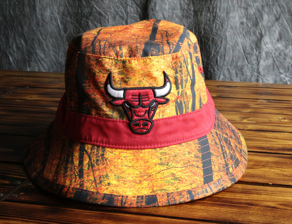 Chicago Bulls Mitchell & Ness Forest Camo Bucket Hat