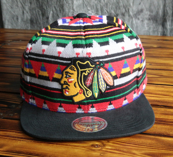 Chicago Blackhawks Mitchell & Ness 'Mixtec' Snapback Hat