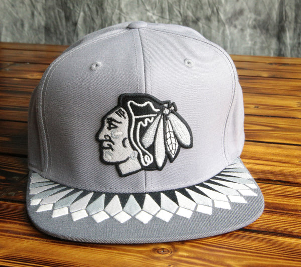 Chicago Blackhawks Mitchell & Ness Grey Variant Snapback Hat