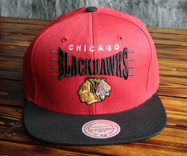 Chicago Blackhawks Mitchell & Ness Ice Hockey Snapback Hat