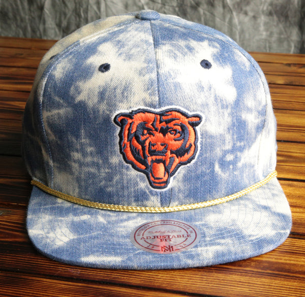 Chicago Bears Mitchell & Ness Blue Acid Wash Denim Snapback Hat