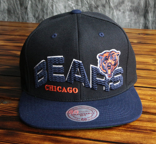 Chicago Bears Mitchell & Ness The Wave Snapback Hat