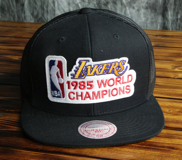Los Angeles Lakers Mitchell & Ness 85 Champ Mesh Snapback Hat