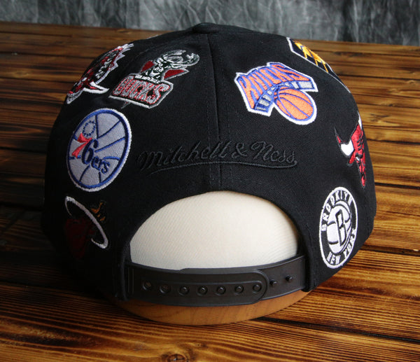 NBA Eastern Conference Mitchell & Ness Logo Smash Snapback Hat