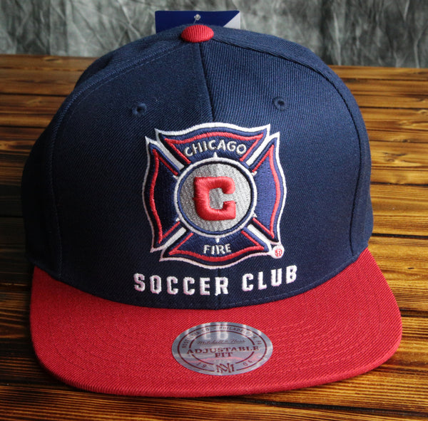 Chicago Fire Mitchell & Ness XL Logo 2 Tone Snapback Hat