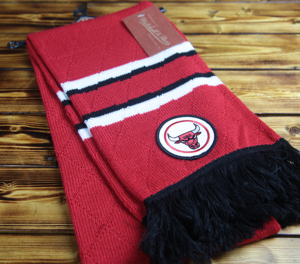 Chicago Bulls Mitchell & Ness Quilted Jersey Stripe Scarf