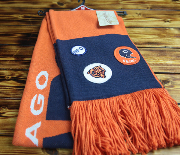 Chicago Bears Mitchell & Ness The Patches Scarf
