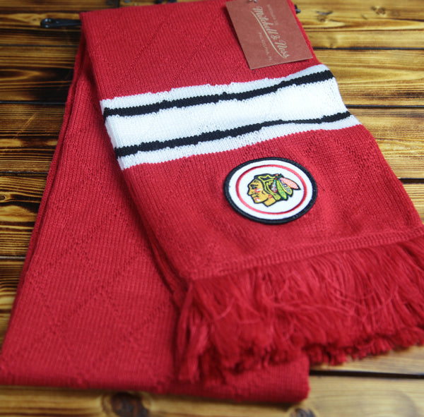 Chicago Blackhawks Mitchell & Ness Quilted Jersey Stripe Scarf
