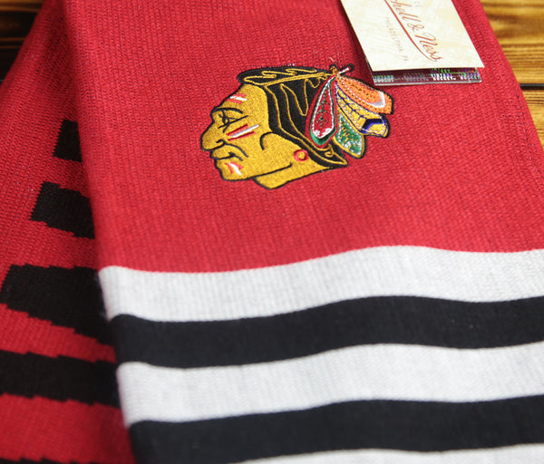 Chicago Blackhawks Mitchell & Ness Vintage Multi Team Color Scarf