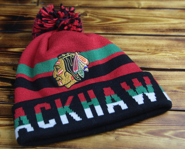 Chicago Blackhawks Mitchell & Ness Thick Ribbed Knit Hat