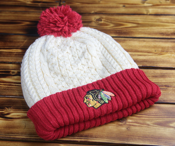 Chicago Blackhawks Mitchell & Ness Sweater Cuffed Knit Hat