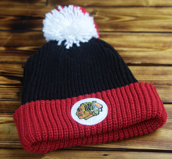Chicago Blackhawks Mitchell & Ness Retro Patch Cuff Knit Hat