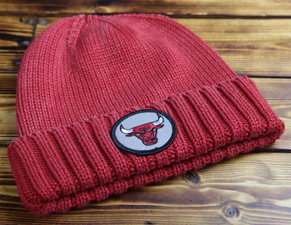 Chicago Bulls Mitchell & Ness Over Dyed Cuffed Beanie Hat