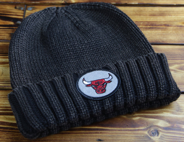 Chicago Bulls Mitchell & Ness Ribbed Cuffed Beanie Hat