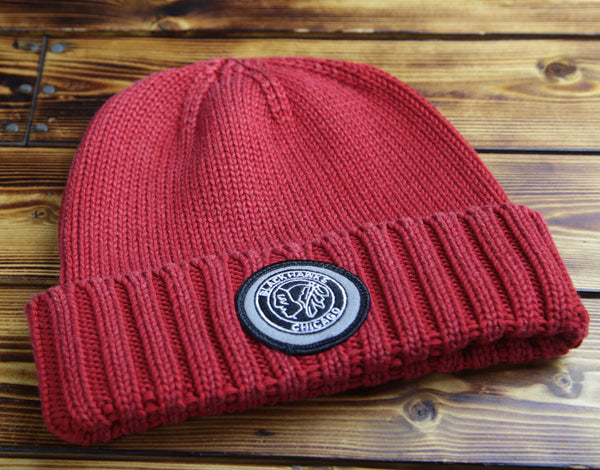 Chicago Blackhawks Mitchell & Ness Over Dyed Cuff Beanie Hat