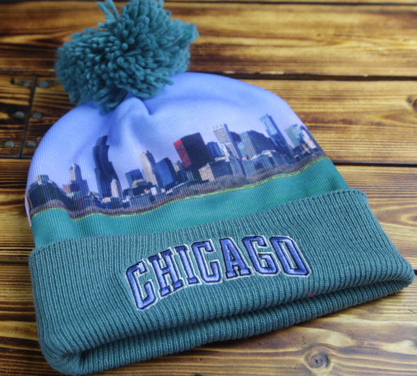 Chicago Mitchell & Ness Localized Sublimated Knit Hat
