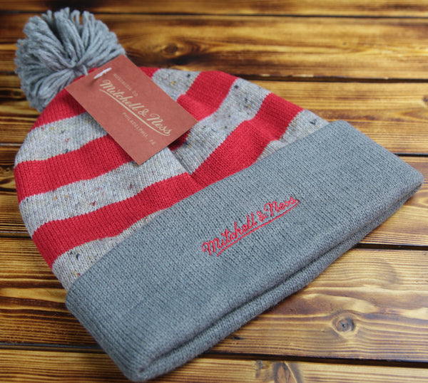 Chicago Bulls Mitchell & Ness Speckled Oatmeal Knit Hat