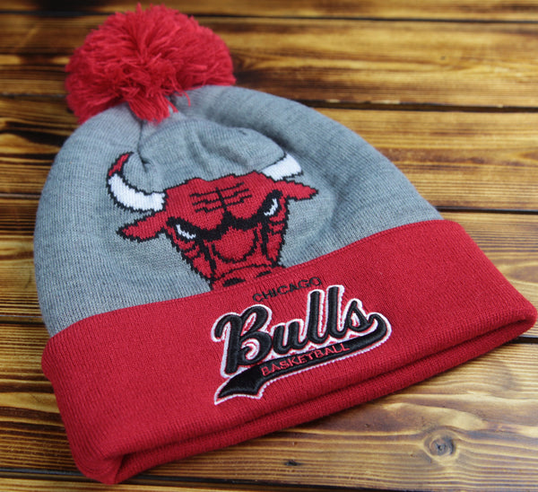 Chicago Bulls Mitchell & Ness Heather Tailsweep Knit Hat