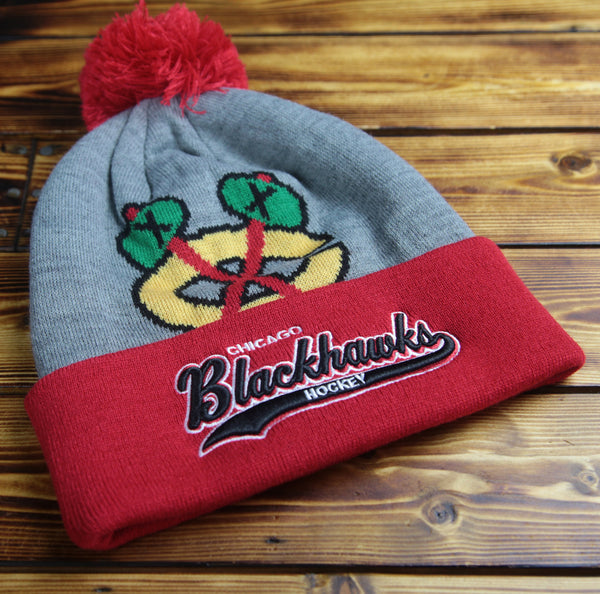 Chicago Blackhawks Mitchell & Ness Heather Tailsweep Knit Hat