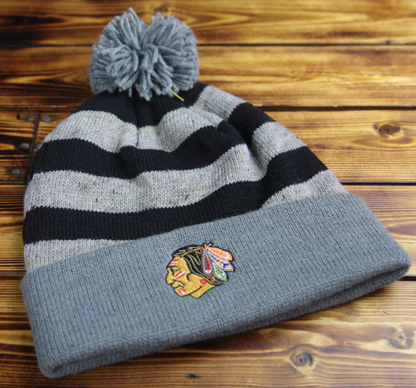 Chicago Blackhawks Mitchell & Ness Speckled Oatmeal Knit Hat