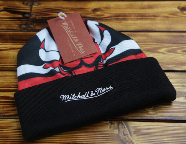 Chicago Bulls Mitchell & Ness Stop On A Dime Knit Hat