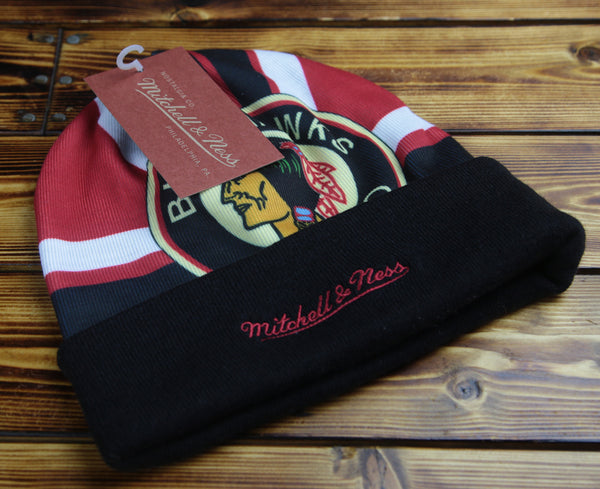 Chicago Blackhawks Mitchell & Ness Stop On A Dime Knit Hat