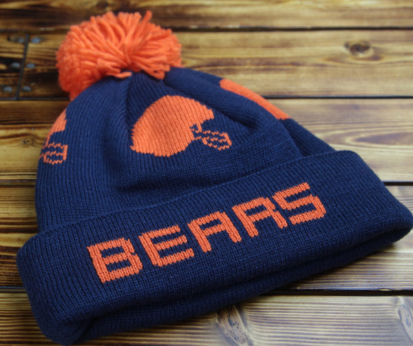 Chicago Bears Mitchell & Ness Round Trip Knit Hat