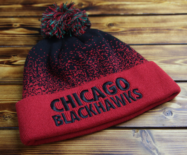 Chicago Blackhawks Mitchell & Ness Title Knit Hat