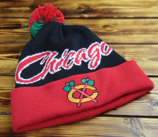 Chicago Blackhawks Mitchell & Ness National City Cuffed Knit Hat