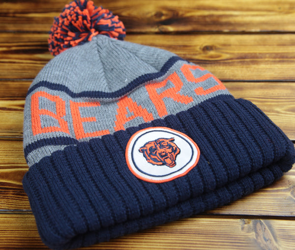 Chicago Bears Mitchell and Ness High 5 Cuffed Knit Hat