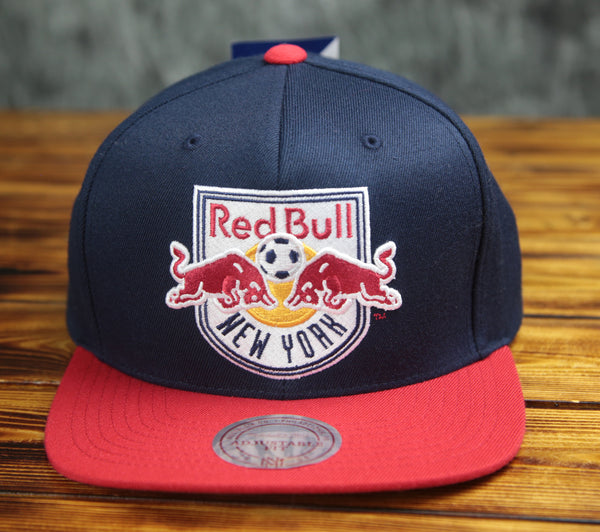 New York Mitchell & Ness Red Bull XL Logo Snapback Hat